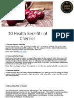 10 Health Benefits of Cherries