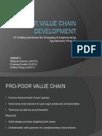 Pro-poor Value Chain Development