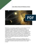 Once Interesantes Datos Sobre El Sistema Solar
