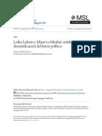 Lolita Lebrón y Minerva Mirabal- Mitificación y Desmitificación d