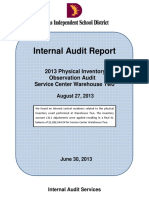 2013 Physical Inventory Observation Audit - Warehouse Two