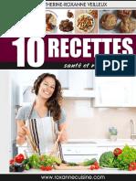 10 Recettes Sante Et Rassasiantes Roxanne Cuisine