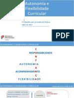 Autonomia e Flexibilidade Curricular_Escolas_III Reunião_5 Julho 2017