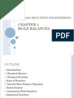 CH 1 Mole Balances