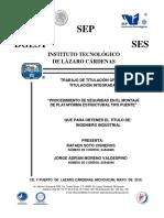Procedimiento de Seguridad en El Montaje de Plataforma Estructural Tipo Puente - 3 Buenas