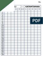 TALLY  Board Sheet