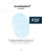 Tailoredimplant - User Guide