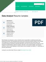 Data Analyst Resume Samples JobHero