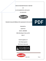 Analysis of Marketing and Sales Aqualite (1)