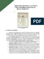 1. Los Cambios Del Mundo y La Nueva Visión Del Hombre Duranre El Renacimiento.