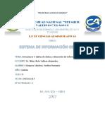 Tabla de Datos- Sistema de Información