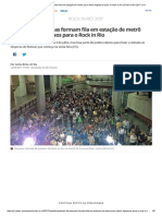 Fila Para Retirar Ingressos Para o Rock in Rio _ Rock in Rio 2017