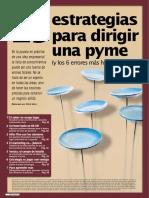 Estrategias Para Dirigir Una Pyme