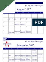 boys football calendar 2017-18
