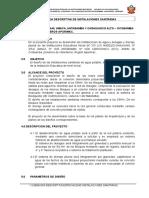 MEMORIA DESCRIPTIVA SANITARIAS  GENERAL.doc
