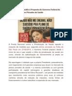 Manifesto de Repúdio à Proposta do Governo Federal de Subsidiar os Planos Privados de Saúde.pdf