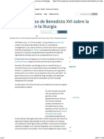 [TEXTO] Discurso de Benedicto XVI Sobre La Música Sacra en La Liturgia