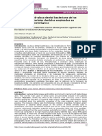 Propiedades Antiplaca Dental Bacteriana de Los Principales Materiales Dentales Empleados en Consultas Estomatológicas