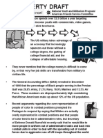 AFSC document about Poverty Draft