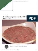 11 Hierbas y Especias Secretas Kfc Copycat) Receta - Food