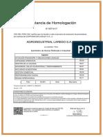 Certificado Homologación LINDLEY 2017