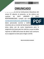 Comunicado Nombramiento Docente 08-09-17