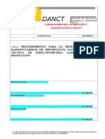 Pdanctq0117(Procedimiento Para La Determinacion de Radionucleidos de Importancia Sanitaria Por La Tecnica de Espectrometria Gamma de Alta Resolucion)