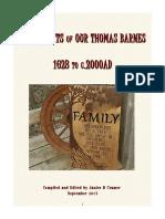 Descendants of Our Thomas Barnes 1623-c.2000AD