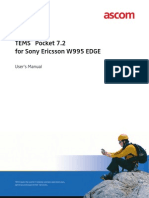 TEMS Pocket 7.2 for Sony Ericsson W995 EDGE -- User_s Manual