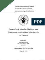Desarrollo de Modelos Cinéticos Para Bioprocesos Xantano