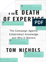 The Death of Expertise the Campaign Against Established Knowledge and Why It Matters