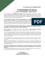 Communique FSU Suite Intervention Premier Ministre 11 Sept 2017