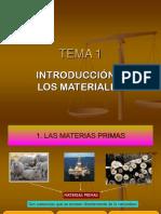 Tema 1. Introduccion a Los Materiales