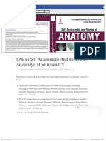 (1) SARA (Self Assessment and Review of Anatomy) How to Read !