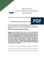 Fallo Consejo de Estado Caso Concejal de Obando