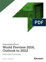 EvaluateMedTech World Preview 2016 Executive Summary ES