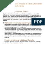 Resumen de reflexiones del objeto de estudio y finalidad del                         derecho según Carlos Fernández.docx