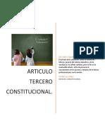 Articulo Tercero Constitucional