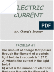 Electric Current Problems Answers