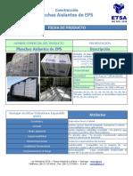 FICHA -ETSA Planchas Aislantes Rev1