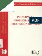 Naucke, Wolfgang - Hassemer Winfried - Principales Problemas de La Prevencion General - 2004