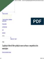 Legislação Federal Fobre Poluição Sonora Urbana e Competência Dos Municípios Arcos - Informações Jurídicas