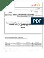 Memoria de Cálculo de Flexibilidad Del Sistema de Desfogue de Los Separadores Fa - 100 y Fa 101 (1)