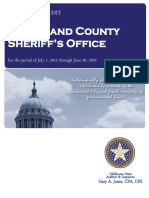 Cleveland County Sheriff's Office Audit