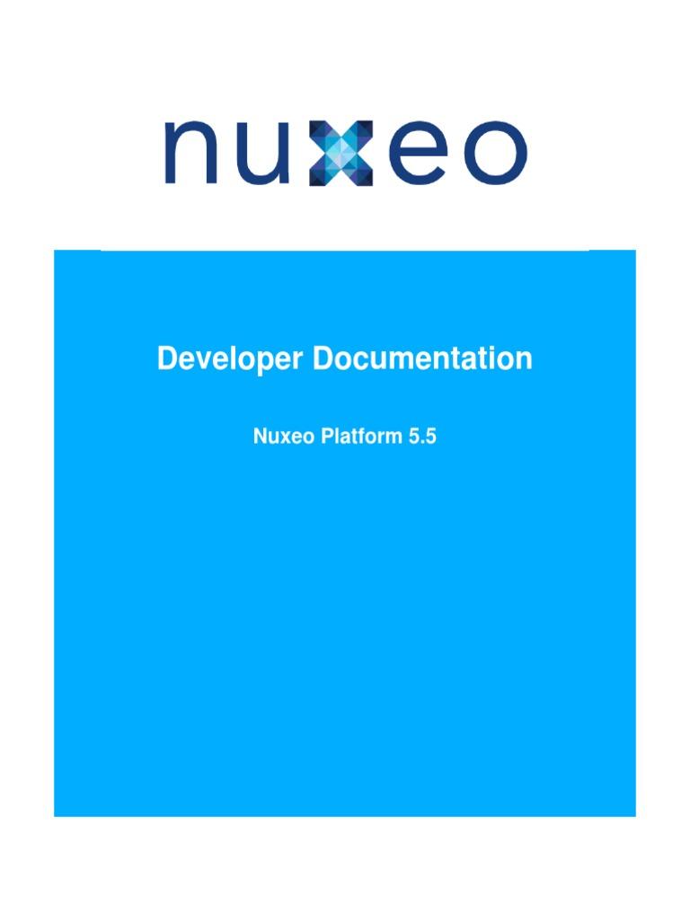 Nuxeo Platform 55 Technical Documentation Xml Schema