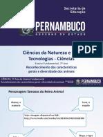Reconhecimento das características gerais e diversidade dos animais.ppt