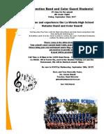 8th grade night flyer