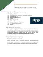 Sílabo de Currículo de Educación Inicial