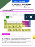 Propriedades Da Tabela - Resumo Química