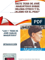 Las Siste Tesis de Jose Carlos Mariategui
